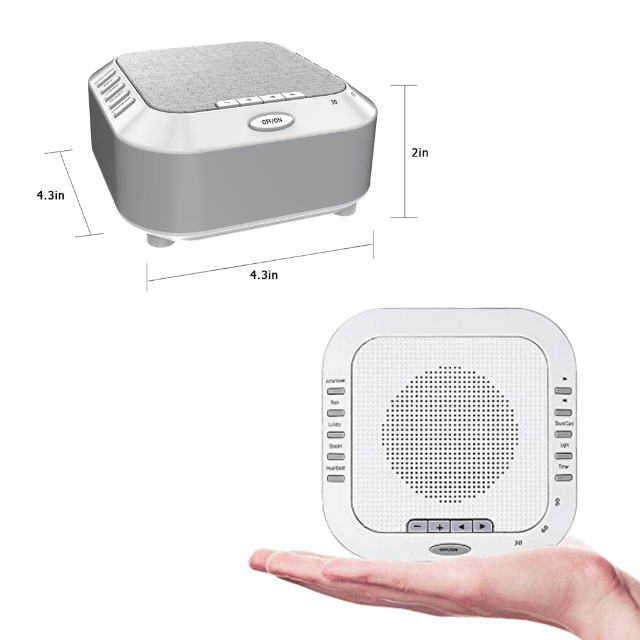 Koustix Insono 5s Sleep Sound Machine Dimension Display